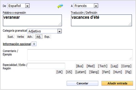 Añadir Palabras Y Expresiones En El Diccionario Colaborativo